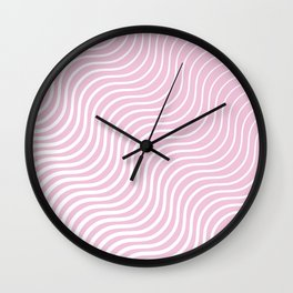 Whiskers Light Pink & White #308 Wall Clock