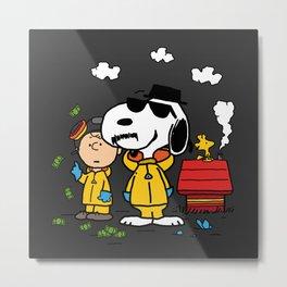 Breaking Peanuts Metal Print