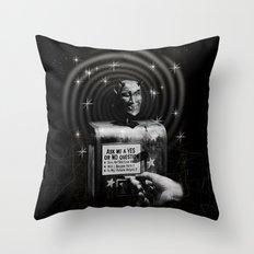 Devil's Question Box Throw Pillow