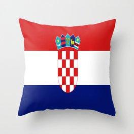 Flag of croatia -croatian, Hrvatska,croat,croacia,Zagreb,split,rijeka,osijek. Throw Pillow