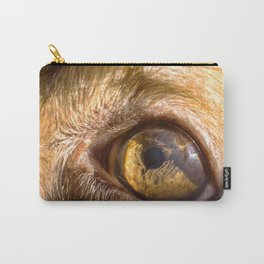 Eye details of a brown dog II Carry-All Pouch