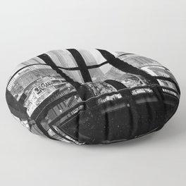 New York City Window Black and White Floor Pillow