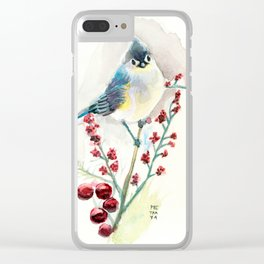 Blue Bird Tufted Titmouse Clear iPhone Case
