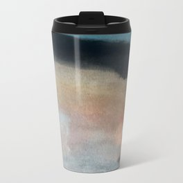 Dawn: a minimal abstract acrylic piece in pink, blues, yellow, and white Travel Mug
