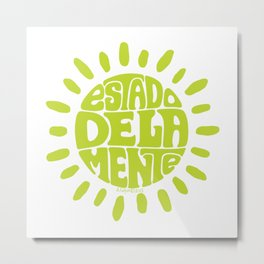State of mind Bright Yellow Lime Metal Print