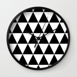 Checked Triangles Wall Clock