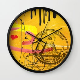 Handicapped Giraffe Wall Clock