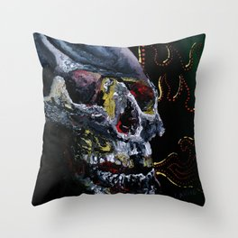 Society Skull Throw Pillow