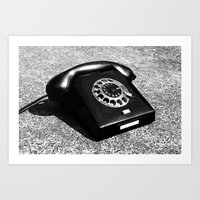 telephone Art Prints featuring telephone by Falko Follert Art-FF77