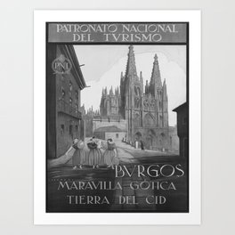 retro old Bvrgos poster Art Print