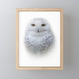 Dreamy Encounter with a Serene Snowy Owl Framed Mini Art Print