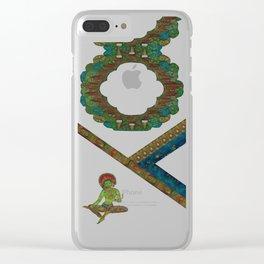Modern Green Tara Clear iPhone Case