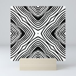 Converging pattern Mini Art Print