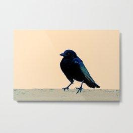 Minimalist Bird IX Metal Print