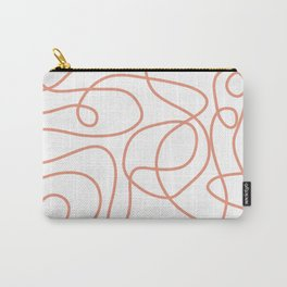Doodle Line Art   Coral Lines on White Background Carry-All Pouch