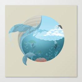 Whale Jump Canvas Print