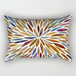 Watercolor Burst – Retro Palette Rectangular Pillow