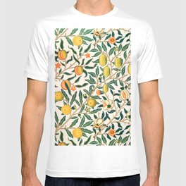 Lemon tree pattern vintage William Morris print T-shirt