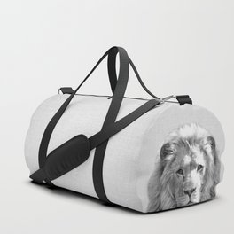 Lion - Black & White Duffle Bag