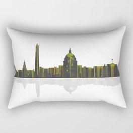Washington DC Skyline BW 1 Rectangular Pillow