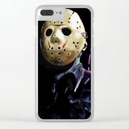 Jason Vorhees Clear iPhone Case