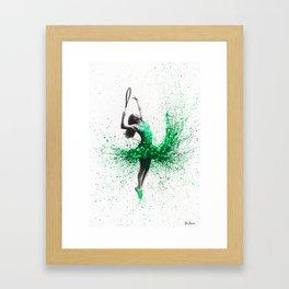 Wimbledon Woman Framed Art Print