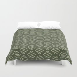Olive Scales Duvet Cover