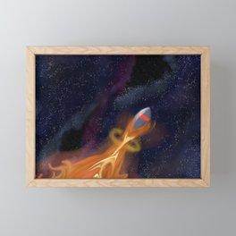 rocket fire Framed Mini Art Print
