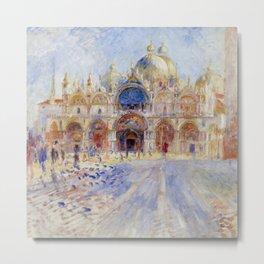 "Auguste Renoir ""The Piazza San Marco, Venice"" Metal Print"