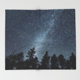 Milky Way in the Woods | Nature and Landscape Photography Throw Blanket