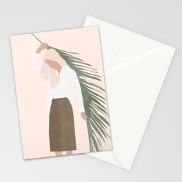 Holding a Palm Leaf Stationery Cards