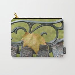 Maple Leaf on Bench Carry-All Pouch