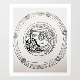 Porthole 1. Art Print