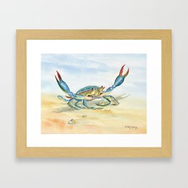 Colorful Blue Crab Gerahmter Kunstdruck