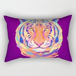 Neon tiger Rectangular Pillow