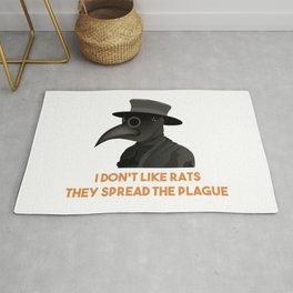 Medieval Plague Doctor Doesn't Like Rats Rug