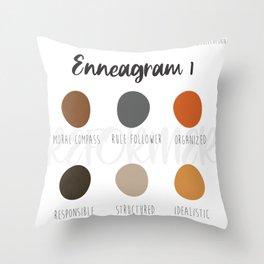 Enneagram 1 Throw Pillow