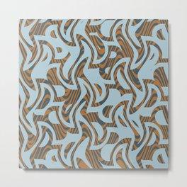 Abstract 123 W Metal Print