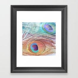 Pastel Boho Peacock Framed Art Print