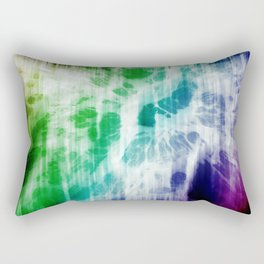 Retro, Boho Chic Tye-Dye Pattern Rectangular Pillow