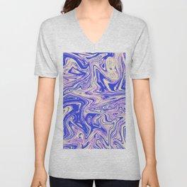 Purple marble with raspberry tint Unisex V-Neck