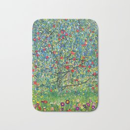 "Gustav Klimt ""Apple tree"" Bath Mat"