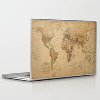 vintage map Laptop & iPad Skins featuring VINTAGE MAP by Oksana Smith