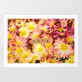 Multi-colored Daises ~ HOPE Art Print