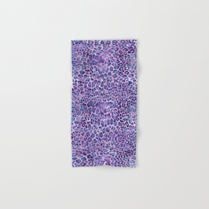Purple Leopard Print Hand & Bath Towel