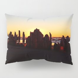 Seaside Sunset behind the wharf remains Pillow Sham