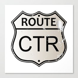 CTR Highway Sign Canvas Print
