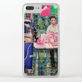 Crockery Seller Clear iPhone Case