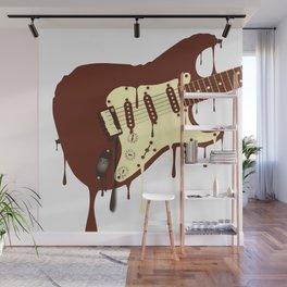 Melting Chocolate Guitar Wall Mural