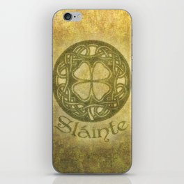 Slainte or To Your Health iPhone Skin